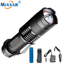 Ru cree xm-l2 3500lm led 5-modes linterna impermeable linterna táctica led torch con un 18650 5000 mah batería y cargador