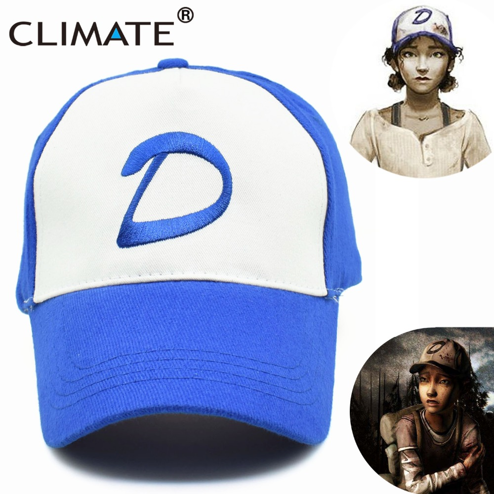 CLIMATE The Walking Dead Game Girl Clementine Clem's   Caps   Adjustable Women Zombie Killer Summer Cool Trucker   Baseball     Caps   Hats