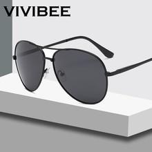 a49d641f0 VIVIBEE الكلاسيكية الرجال الطيران الاستقطاب الإطار المعدني النظارات الشمسية  النساء السود نمط رجل Polarised نظارات شمسية 2019 ظلا.