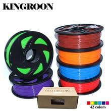 Pla 1.75mm filamento 1 kg materiales de impresión colorida para 3D impresora extrusora pluma Arco Iris plástico Accesorios negro blanco rojo gris