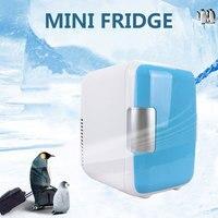 Mini 4l Car Home Dual use Small Refrigerator Ultra quiet Low noise Car Fridge Freezer Cooling Heating Box Refrigerator