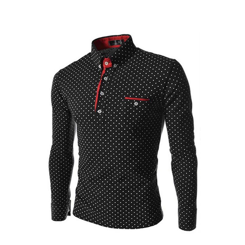 Aliexpress.com : Buy long sleeve wave point print polka dot men ...