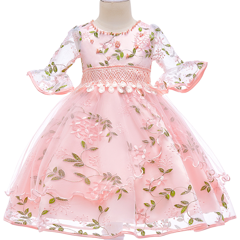 1819c92e18 2017 Petal hem Girls Wedding Dress infantil Fancy princess dress ...