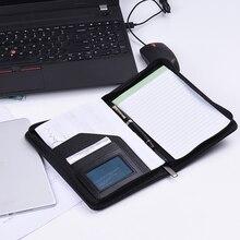 Портативный чехол для документов A5, деловой портфель, блокнот для записей, чехол для документов, органайзер A5 из искусственной кожи для бизнеса