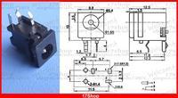 500PCS 3pin 4.8mm X 1.7mm DC socket 1.65mm jack PCB Charger Power Female Plug
