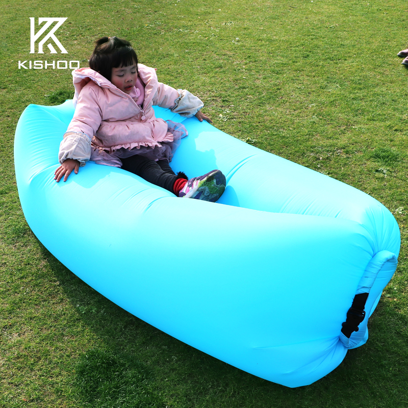 Fast Inflatable Laybag Air Sleeping Bag Camping Portable Air Sofa Beach Bed Air Hammock Nylon Lazy Bag Lounger