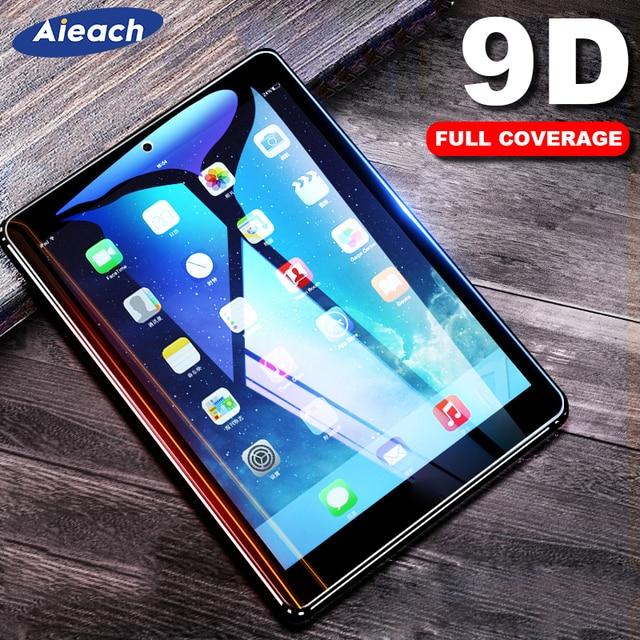 Protector de pantalla para Samsung Galaxy Tab A 10,1, 2019, 10,5, 2018 9D la cobertura completa de templado de vidrio de película para Galaxy Tab s5e S4 S3 S2