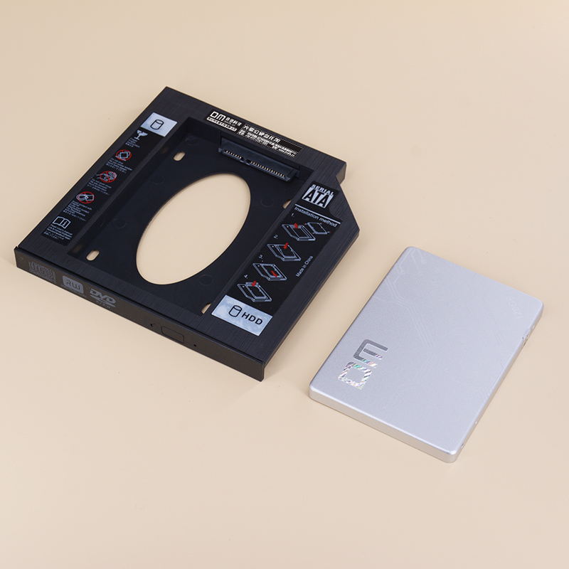 DM DW127 <font><b>SSD</b></font> <font><b>Adapters</b></font> 12.7mm Plastic Optibay SATA 3.0 Hard Disk Drive Box Enclosure DVD <font><b>Adapter</b></font> 2.5 <font><b>SSD</b></font> 2TB For Laptop CD-ROM image
