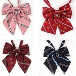 Милые Регулируемая Корона воротник цветок лук галстук Для женщин бабочки шеи галстук бренд студенты плед японский равномерное