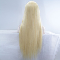 613 Синтетический Frontal шнурка волос Искусственные парики Ombre 613 блондинка Синтетический Frontal шнурка волос Человеческие волосы Искусственные