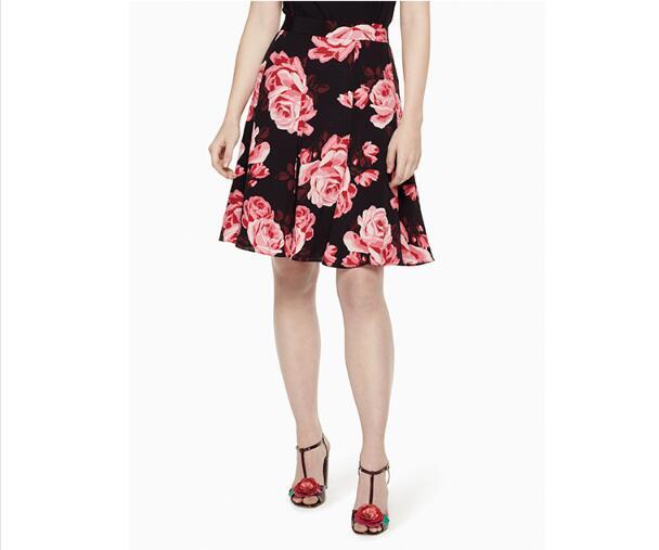 Rétro Haute A Jupe Femmes 2018 De Taille Rose Nouvelles Noir D'été ligne q7688IP
