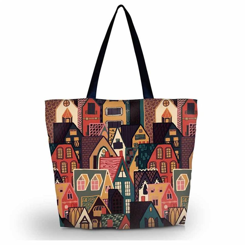 New Soft Foldable Women's Shopping Bag Tote Shoulder Carry Bag women Handbag Pouch Zipper Closure Pocket Eco Reusable stylish women s tote bag with clip closure and crocodile print design