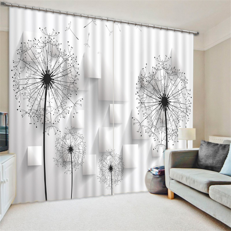 Black White Circle 3D Blackout Curtains For Bedding Room Living Room Drapes  Cortinas Para Sala Tapestry Wall Decorative In Curtains From Home U0026 Garden  On ...