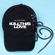 Blackpink Hats Kill This Love Ball Visors Cap Lisa Jennie Rose Jisoo Hats Baseball Hat Hip-hop Man Womens Visor Beanie Wholesale(China)