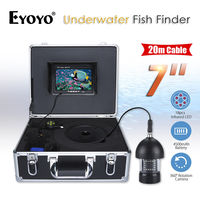 EYOYO 7inch TFT Color 360degree HD 1000TVL Underwater Fishing Camera Fish Finder Infrared Waterproof With 20M