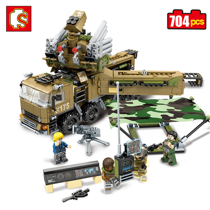 Sembo Block 704pcs Military Army  Action Toy Figures Weapon Building Blocks Enlighten Toy For Children Compatible Legoe Tank Car цена и фото