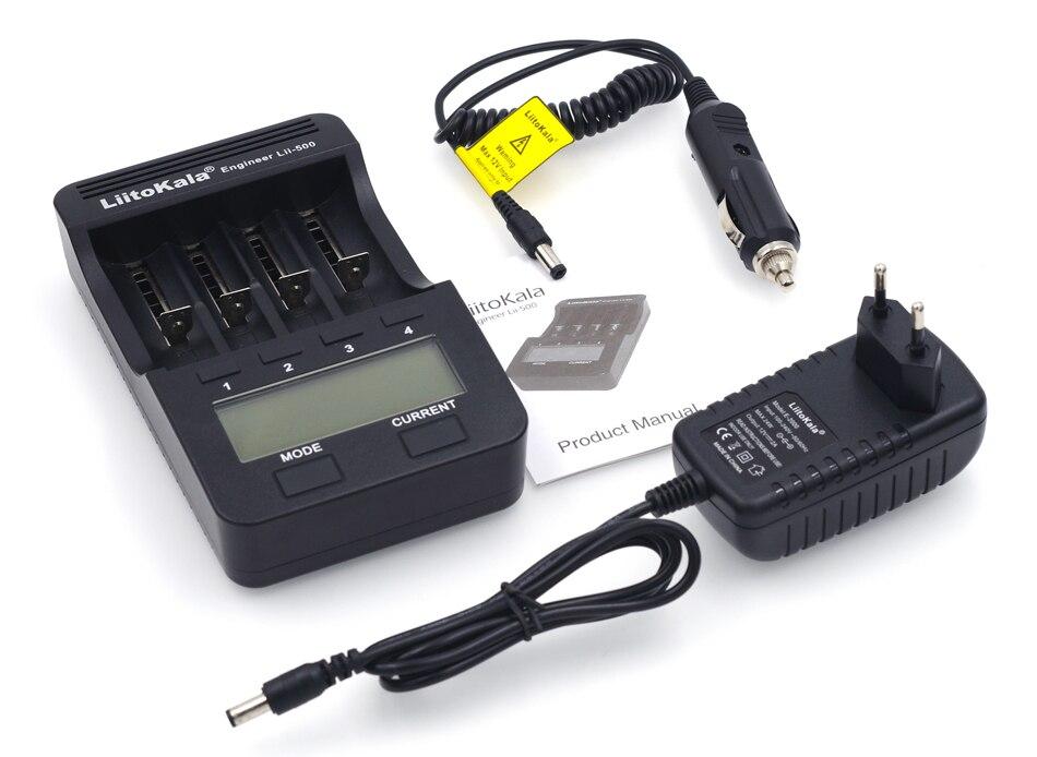 2018 Nuovo Liitokala lii500 LCD Caricabatteria per 3.7 V 18650 26650 18500 Batterie Al Litio Cilindrica, 1.2 V AA AAA NiMH Caricabatteria