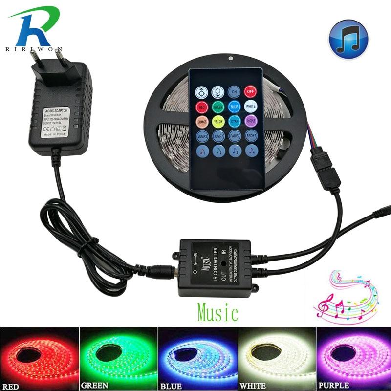 RiRi won 5m RGB LED Strips Licht SMD5050 60LEDS / M LEDs Tape - LED-Verlichting