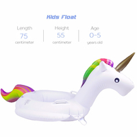 75/90/110/160cm Inflatable Unicorn Giant Pool Float Toys Swimming Ring 1
