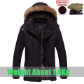 Hot sale winter jacket men fashion casual cotton down coat slim fit outwear fleece thicken warm winter parka men`s size L~5XL