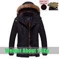 Venta caliente chaqueta de invierno los hombres de moda casual algodón abajo de la capa slim fit outwear fleece espesar caliente parka de invierno para hombres tamaño L ~ 5XL