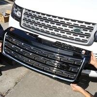Серебристый черный основной корпус Передняя решетка Накладка для Land Rover Range Rover Vogue 2017 2013 автомобильные аксессуары