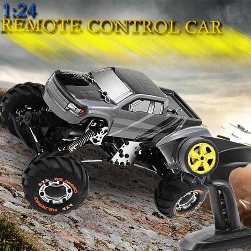 2017 RC Car 1:24 2.4Ghz Radio Remote Control Car RC Buggy Rock Crawler Simulation Racing Car Off-Road Vehicle Toys For Children remote control car toys rc crawler off road vehicle four channel go anywhere cross country for children electric gift