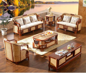 Patio Furniture Cushioned Tea-Table Rattan Wicker Sofa High-Quanlity