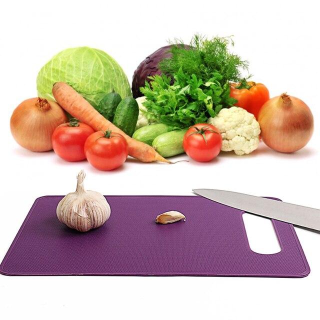 Plástico Cúter vegetal fruta carne tabla de cortar antideslizante ...