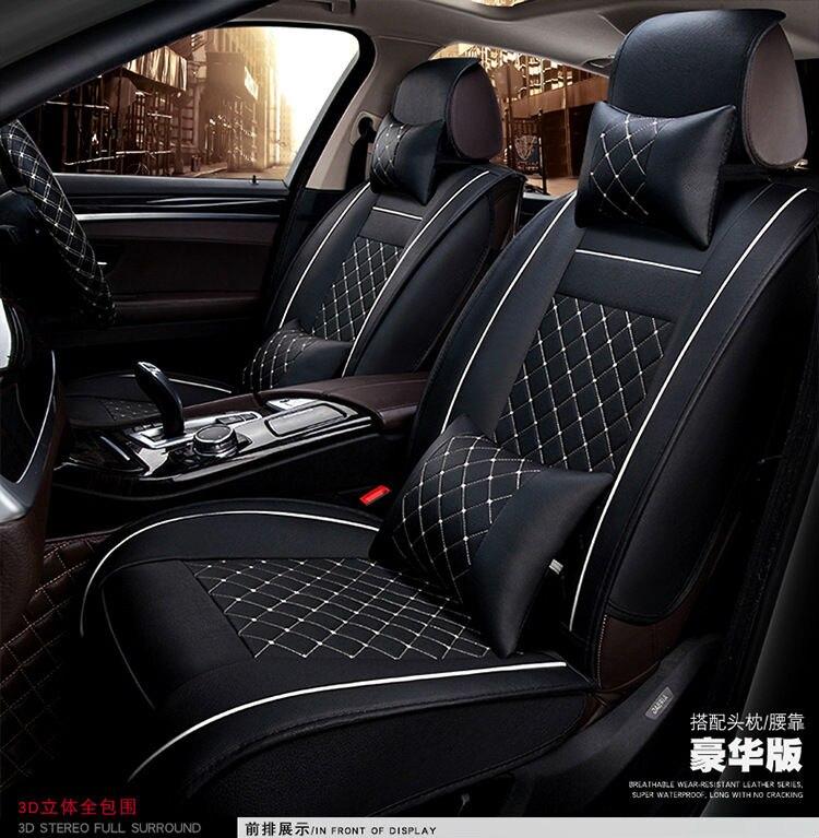Car Seat Covers Cushion Auto Accessories Pad Pu Black