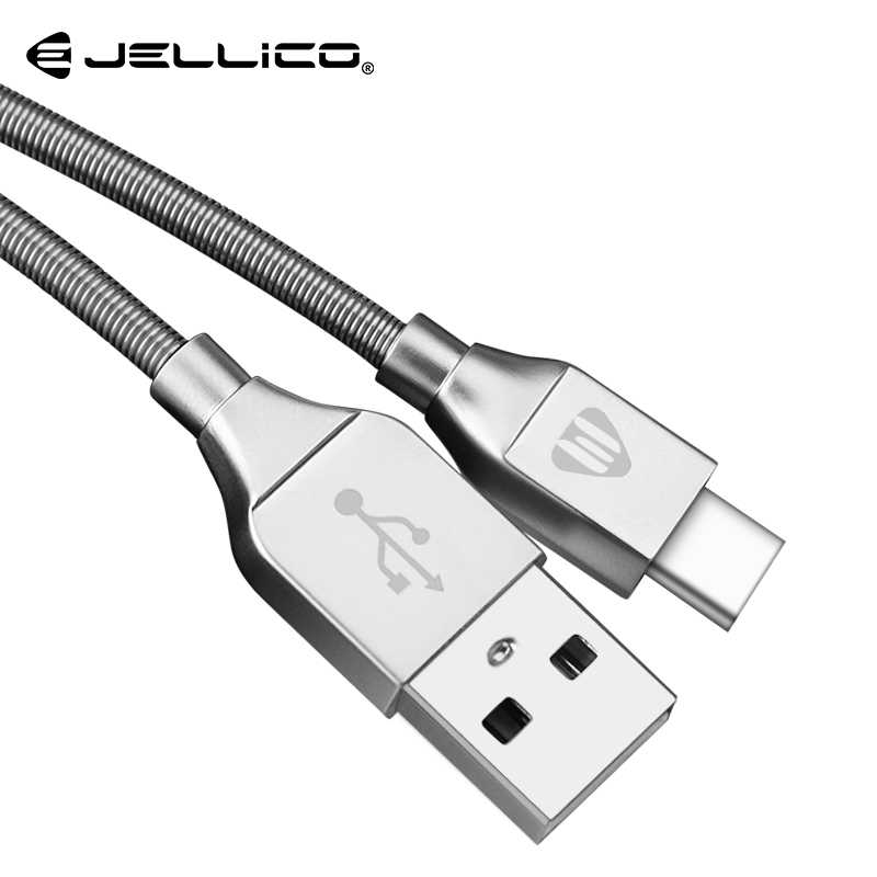 Jellico Luxury Metal Braided Type C Phone Cable for Xiaomi