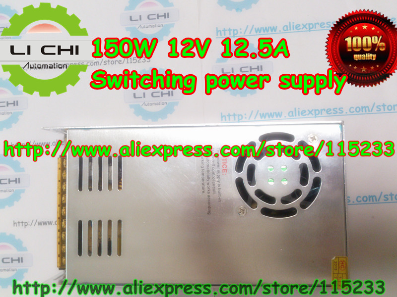 Free shipping by HK post 1pcs 12V 12.5A 150W Small Volume Single Output Switching power supply for LED Strip light power suply 201w led switching power supply 85 265ac input 40a 16 5a 8 3a 4 2a for led strip light power suply 5v 12v output