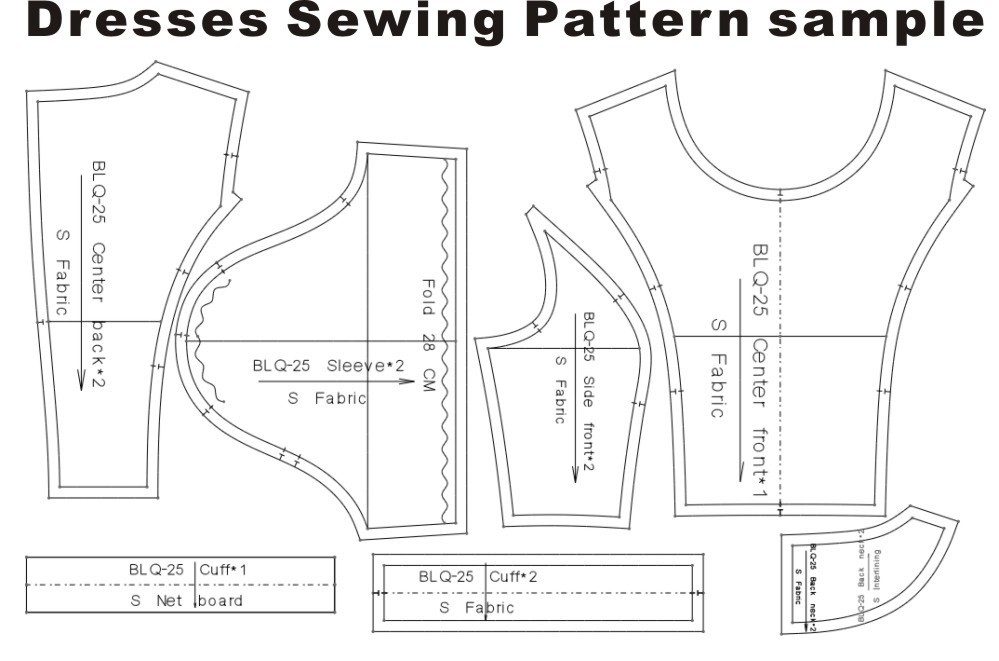 Clothing DIY The dress Dresses Sewing Pattern cutting drawing Dress ...