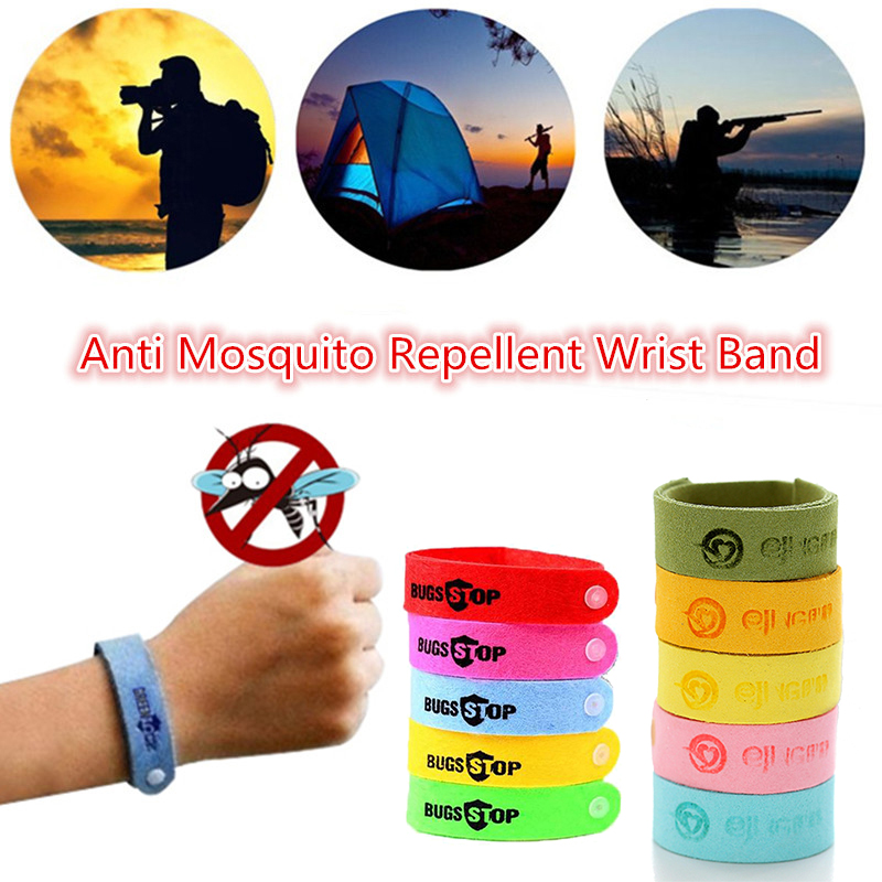 10Pcs Anti Mosquito Wristband Mosquito Insect Bugs Repellent Bracelet Safe For Kids Home Outdoor Pest Reject