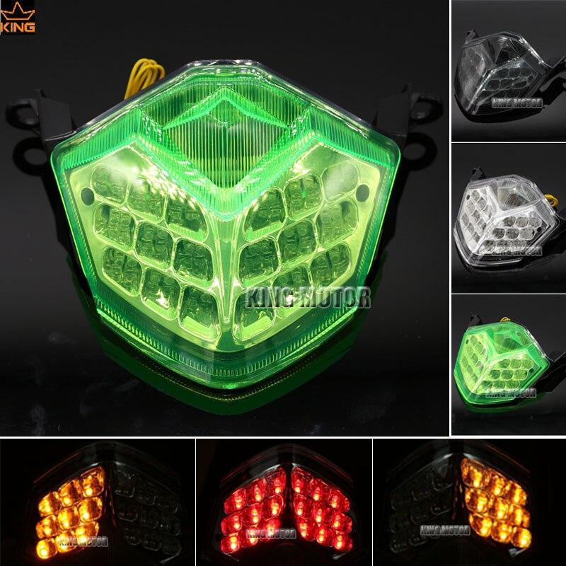 For KAWASAKI ZX-10R 2008-2010 ZX-6R/636 Z750 Z1000 Motorcycle Accessories Integrated LED Tail Light Turn signal Green original fuel pump oem uc t35 kawasaki 636 zx 6r zx 10r zzr1400 zx 14r