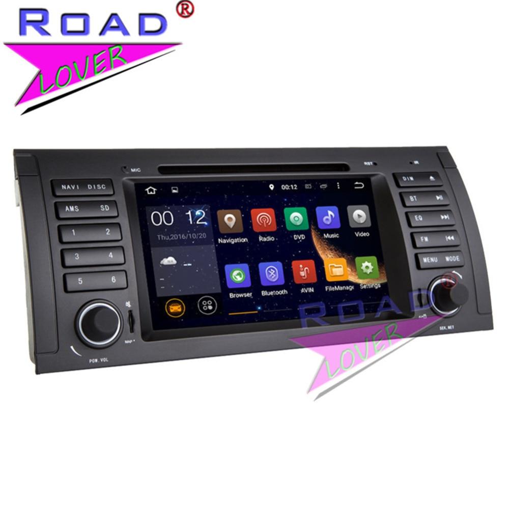 TOPNAVI nouveau 4G + 32 GB Android 8.0 Octa Core unité de tête de voiture lecteur DVD pour BMW série 5 E39 X5 E53 stéréo GPS Navigation Audio 2Din