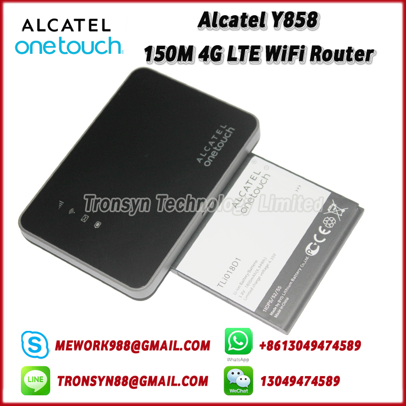 New Original Unlock Alcatel Y858 150Mbps Portable LTE 4G Router With Sim Card Slot Support LTE FDD B1 B3 B7 B8 B20 free shipping original unlock 150mbps huawei e5575s 210 protable 4g lte wifi router support lte fdd b3 b7 tdd b38