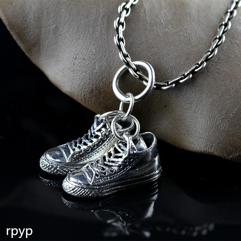 Kjjeaxcmy Boutique Schmuck S925 Die Neue Thai Silber Hand-made Männer Und Frauen Der Mode Fußball Schuh Anhänger Edler Schmuck