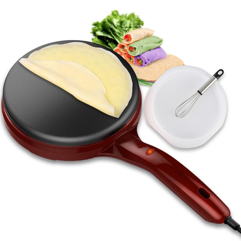 Crêpière électrique Machine à crêpes Pizza plaque de cuisson antiadhésive plaque de cuisson Machine à gâteau Machine à rouleaux de printemps cuisine outils de cuisson