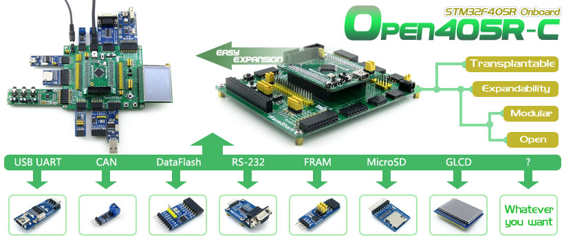 STM32F405RGT6 development board