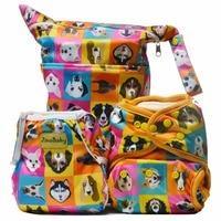Doggies Party Purrrrfect O N E Diaper Combo Bamboo Diaper Swim Diaper Wet Bag