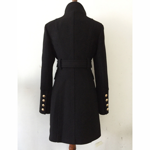 Image 3 - חדשה באיכות גבוהה אופנה 2020 סתיו חורף מעצב מעיל נשים של טור כפתורים כפול האריה כפתורי צמר מעיל מעיל