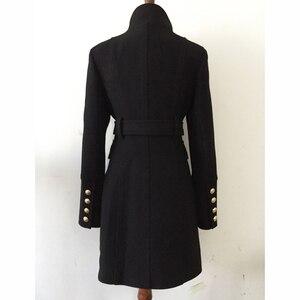 Image 3 - Pardessus en laine pour femmes, nouveau manteau de styliste, de haute qualité, croisé, boutons lions, à la mode, automne hiver 2020