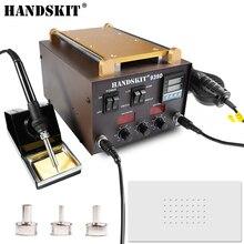 Handskit SMD refundido 3 en 1 estación de soldadura con estación de retrabajo de aire caliente separador de pantalla táctil para reparación de teléfonos móviles