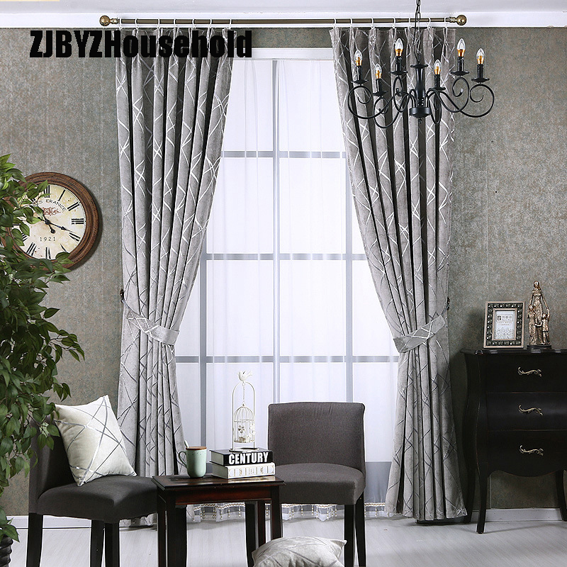 Simple European Style Of Modern Curtains For Living Dining Room Bedroom Thick Silver Skin Shading Curtains Jacquard Chenille Shading Curtain Curtain Jacquardjacquard Chenille Aliexpress