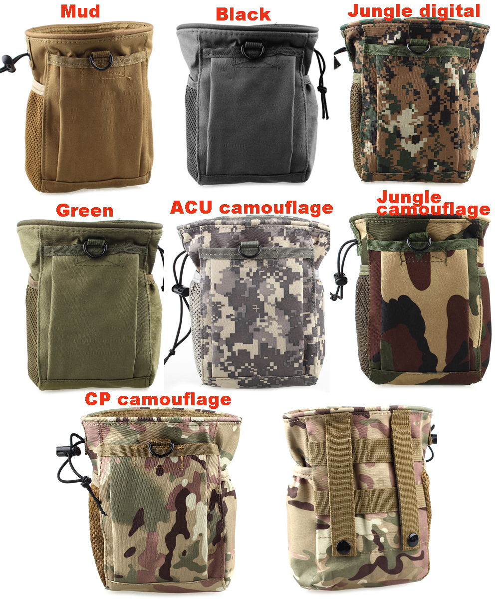 New Large Capacity Waist Molle Military Tactical Airsoft Paintball Hunting Folding Mag Recovery Dump Pouch In Climbing Bags From Sports Entertainment On