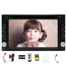 100% 2 Din New Car Radio Double 2 din Car DVD Player GPS Navigation Car Stereo In Dash Car PC Head Unit Video Music Player Free