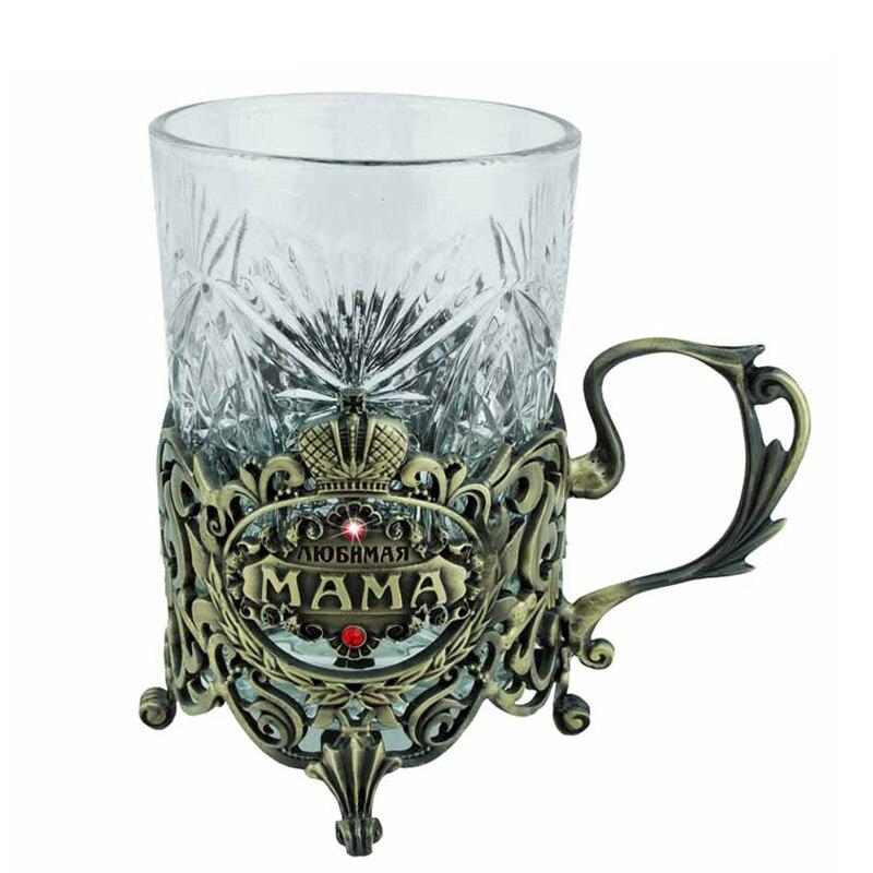 Antique perdurable tasses tasse boisson coaster titulaire métal environnement anti chaude tasse et soucoupe tasse creative cadeau pour la mère