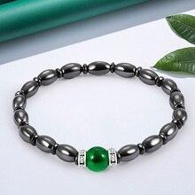 Women Black Cool Magnetic Bracelet Beads Health Care Magnet Beads Bracelet Femme Fashion Men's Jewelry Accessories цена