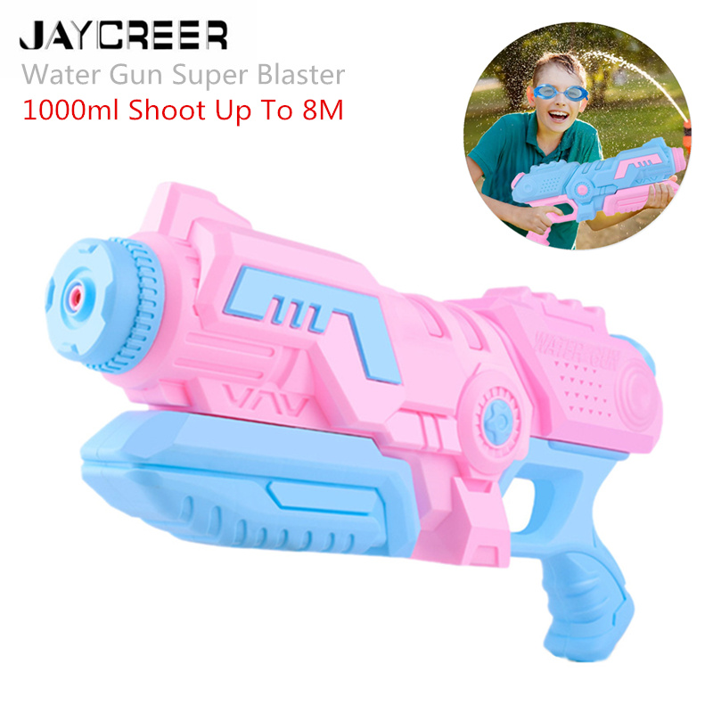 JayCreer Water Gun Super Blaster, Soaker Long Range Squirt Gun Toys High Capacity Summer Water Fight And Family Fun Toys(China)